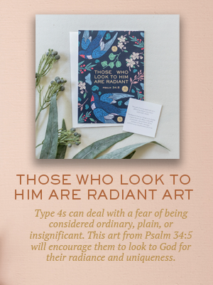 Those Who Look to Him art | Christmas gifts for Enneagram Type 4