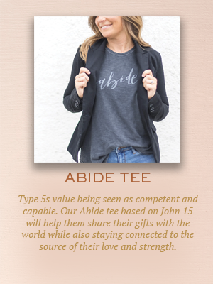 Abide tee | Christmas gifts for Enneagram Type 5s