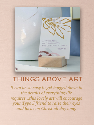 Colossians 3:1 art | Christmas gifts for Enneagram Type 5s
