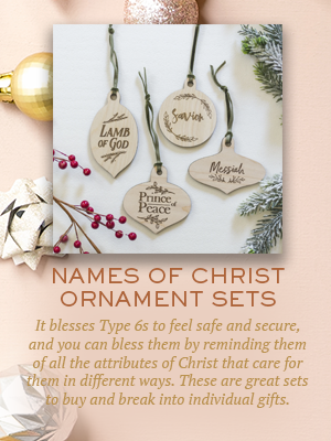 Names of Christ Ornaments | Christmas gifts for Enneagram Type 6s