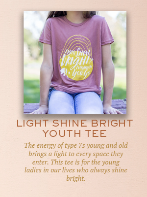 Light Shine Bright youth tee | Christmas gifts for Enneagram Type 7