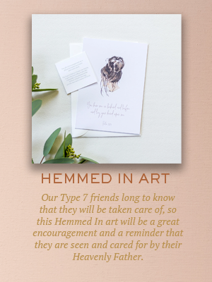 Hemmed In art | Christmas gifts for Enneagram Type 7