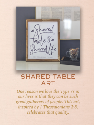 Shared Table art | Christmas gifts for Enneagram Type 7
