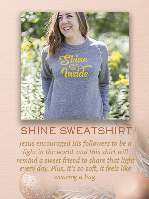 Shine From the Inside sweatshirt | Christmas gifts for Enneagram Type 7