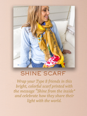 Shine scarf | Christmas gifts for Enneagram Type 8