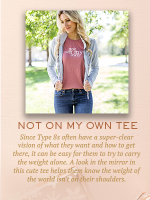 Not On My Own tee | Christmas gifts for Enneagram Type 8