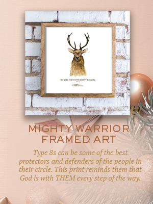 Mighty Warrior framed art | Christmas gifts for Enneagram Type 8