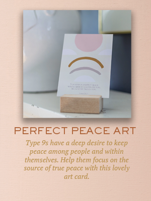 Perfect Peace art | Christmas gifts for Enneagram Type 9
