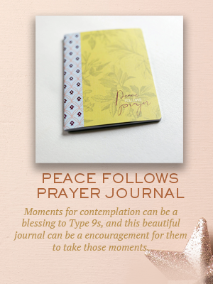 Peace Follows Prayer journal | Christmas gifts for Enneagram Type 9