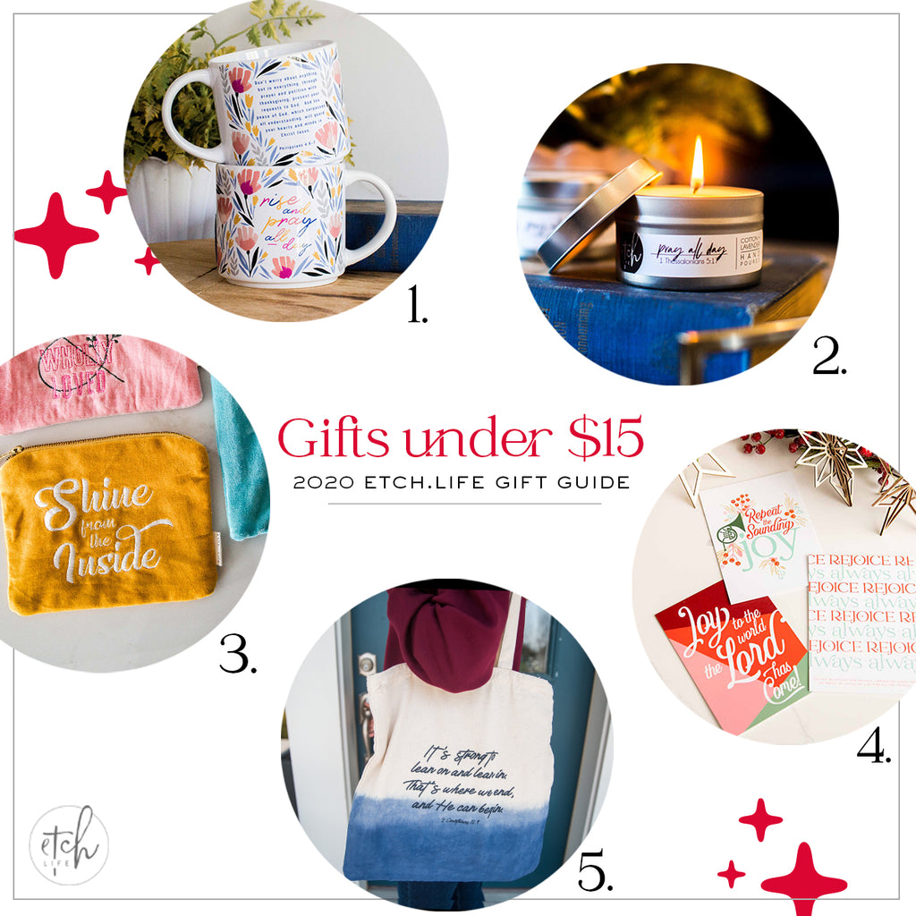 EtchLife Gift Guide Gifts Under $15