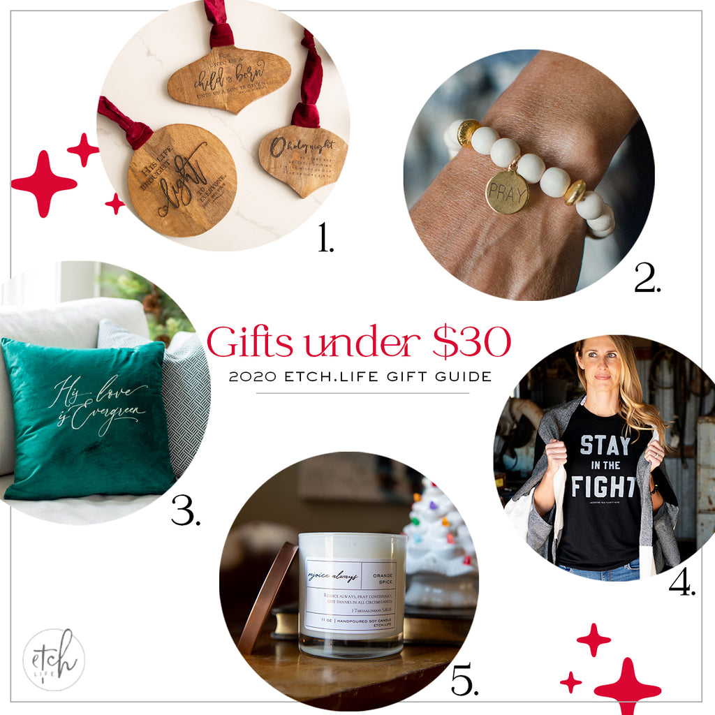 EtchLife Gift Guide Gifts Under $30