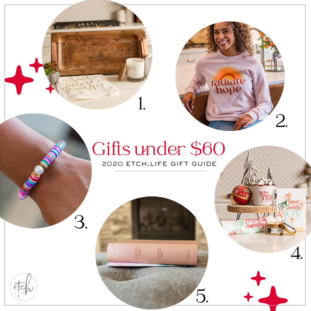 EtchLIfe Gift Guide Gifts Under $60