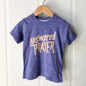 Answered Prayer Toddler Tee in Purple Melange