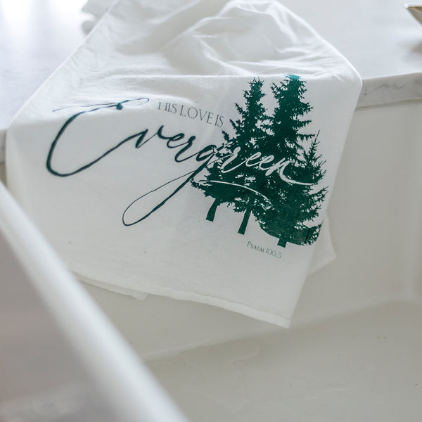 Evergreen Tea Towel