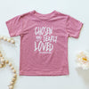 Chosen & Dearly Loved Toddler Tee in Mauve Triblend