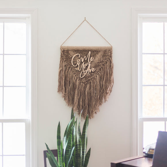 WALL HANGING | Macrame | Come As You Are | Handmade Wool