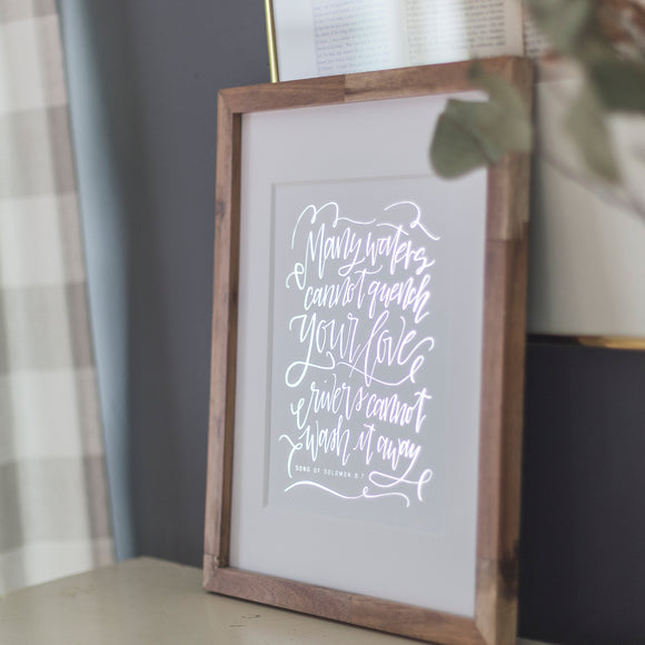 HAND-LETTERED ART | 8x10 | Song of Solomon Single Print | Silver Foil - EtchLife