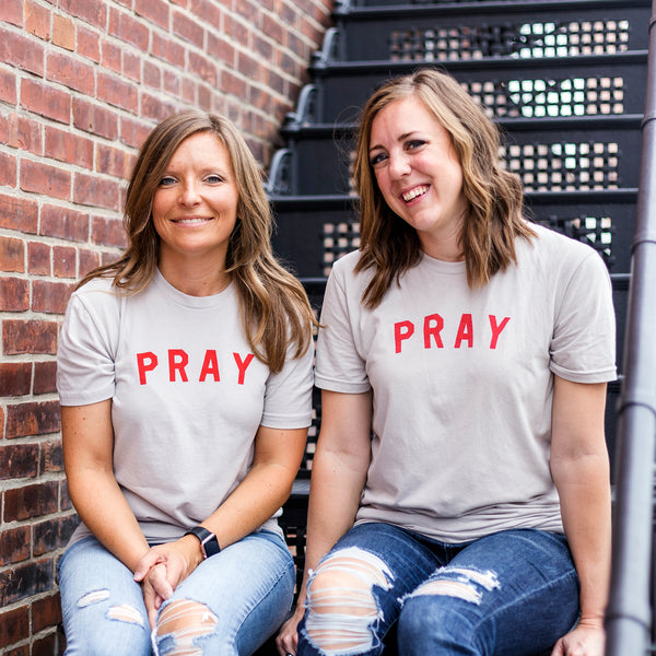 Imperfectly Brave RED Pray Tee