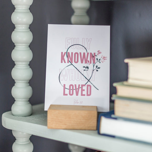 Known & Loved Encouragement Art in 5x7
