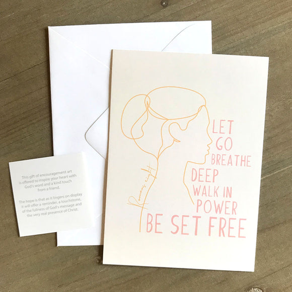 Be Set Free Encouragement Art in 5x7