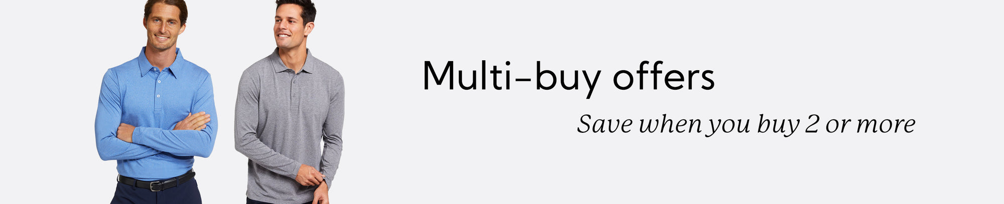 Multi-buy offers for Men: Save when you buy 2 or more