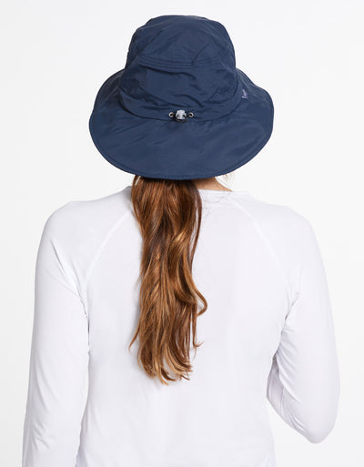 Solbari Sun Protection UPF50+ Expedition Sun Hat in Navy