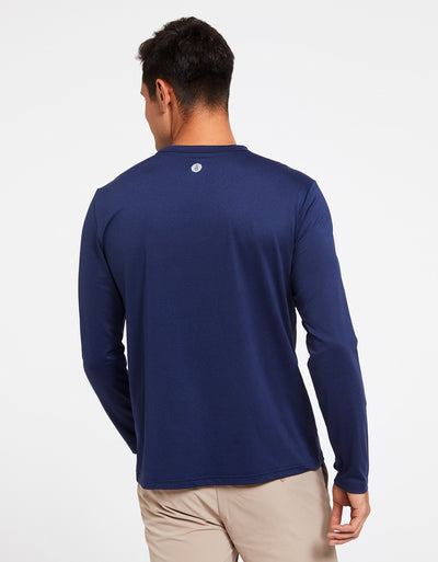 Solbari Sun Protection Men's UPF50+ Long Sleeve T-Shirt Active Collection in Navy