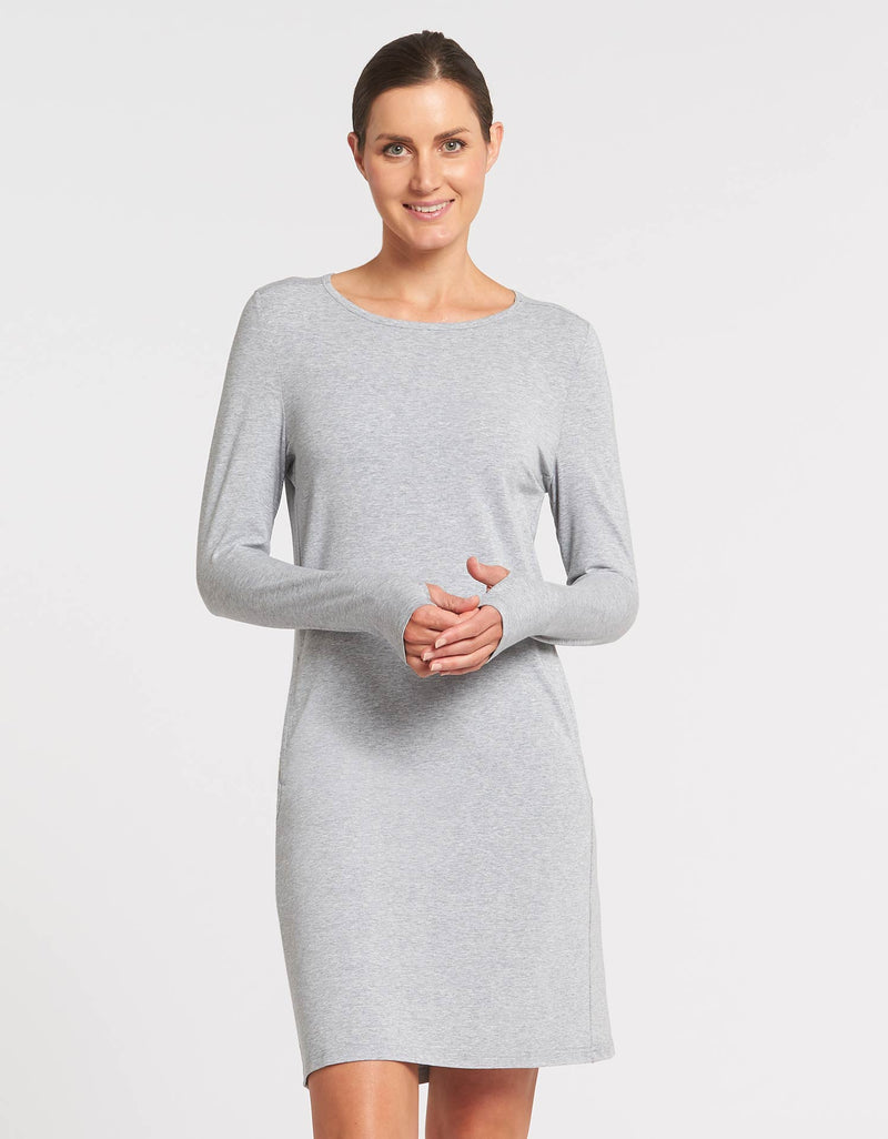 Long Sleeve T-shirt Dress UPF 50+ Sensitive Collection