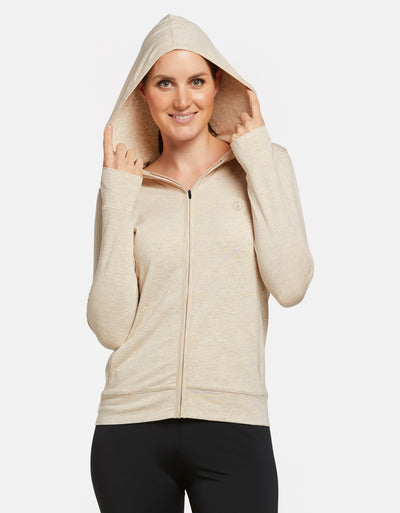 Luxe Hooded Full Zip Top UPF 50+ Sensitive Collection