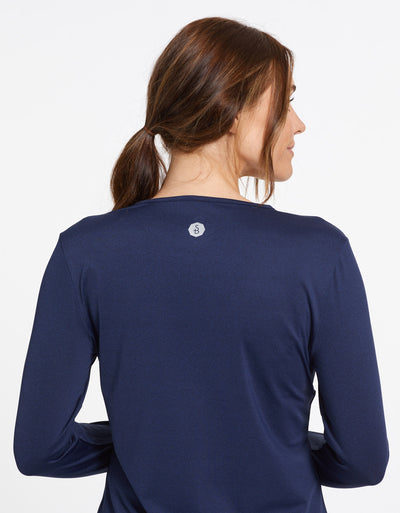 Solbari Sun Protection UPF50+ Women's Long Sleeve T-shirt Active Collection in Dark Navy
