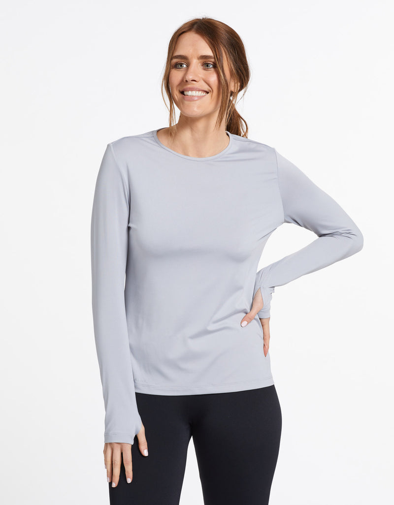 Solbari Sun Protection UPF50+ Women's Long Sleeve T-shirt Active Collection in Light Grey