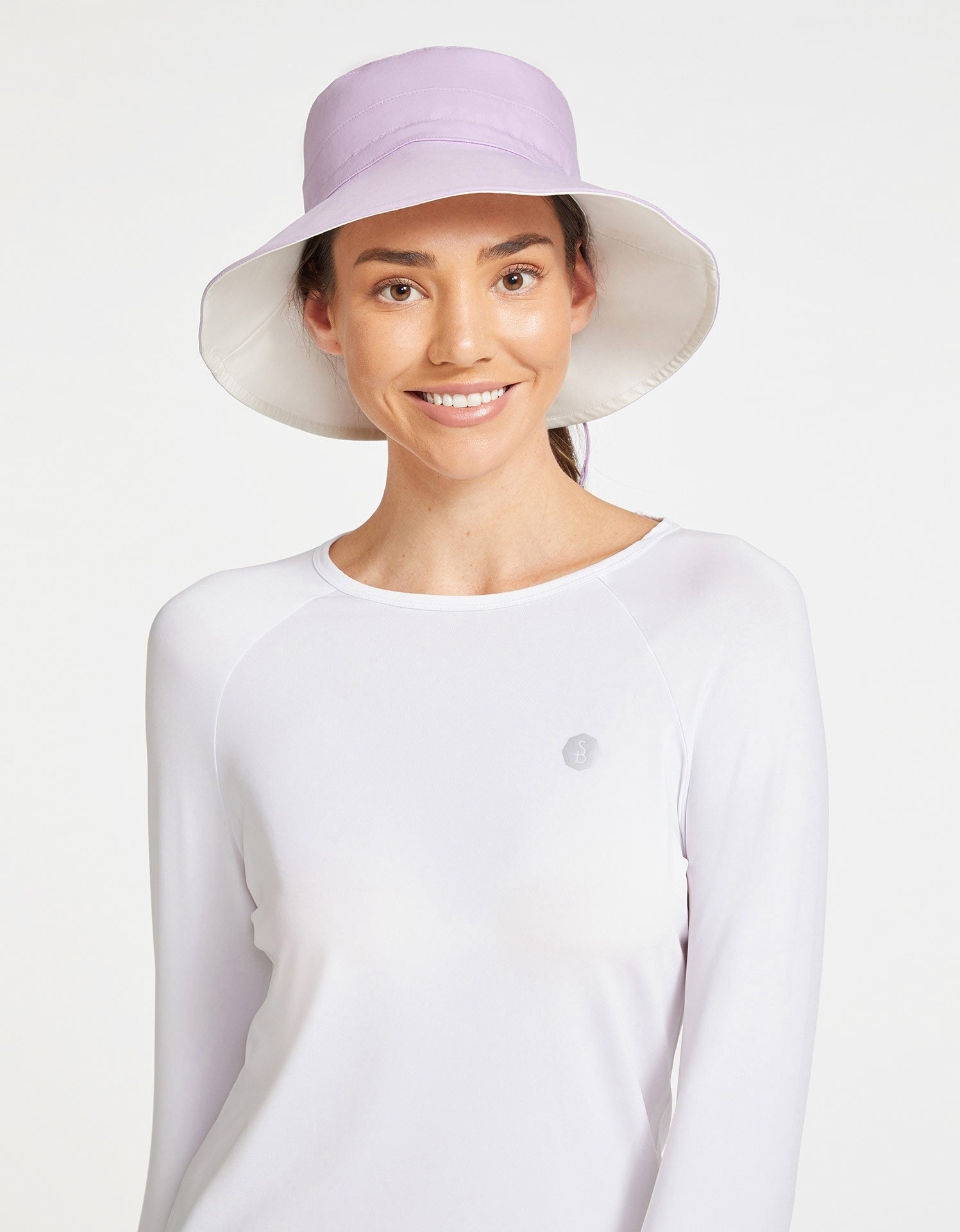 Solbari Sun Protection Women's UPF50+ Reversible Sun Hat in Lilac / Cream
