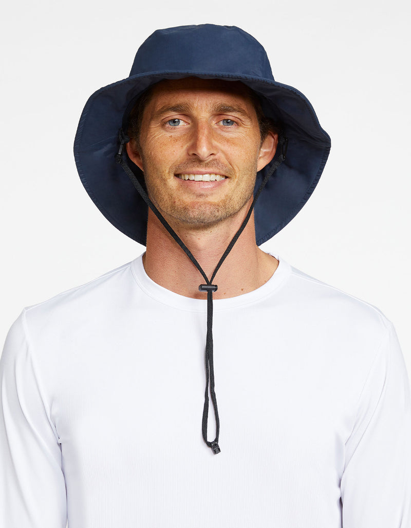 Solbari Sun Protection Men UPF50+ Expedition Sun Hat in Navy