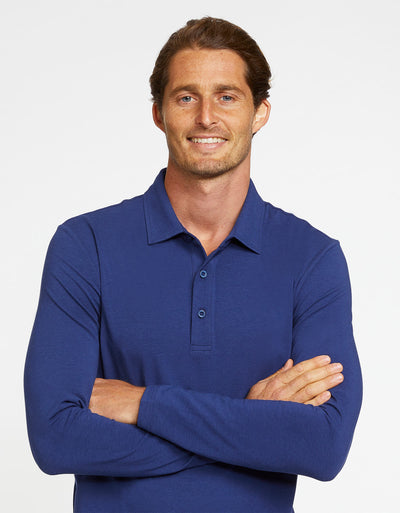 Long Sleeve Polo Shirt UPF 50+ Sensitive Collection