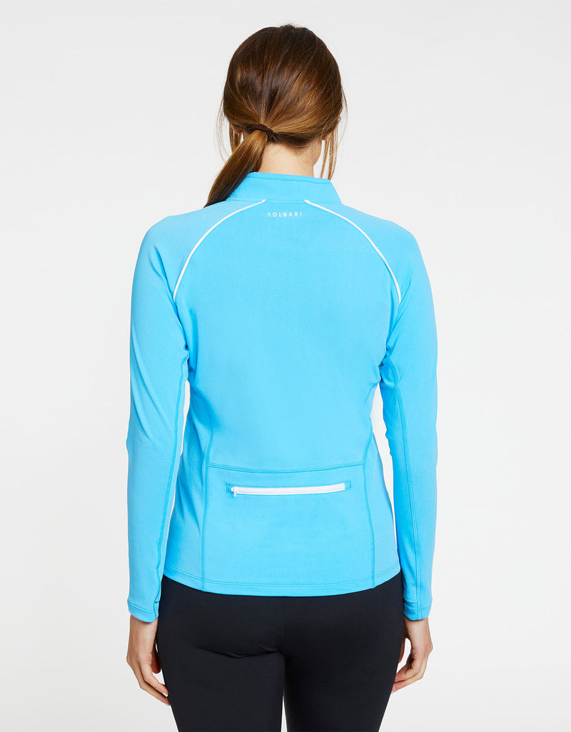 Full Zip Top with Back Zip Pocket UPF 50+ Swimwear & Resort Collection