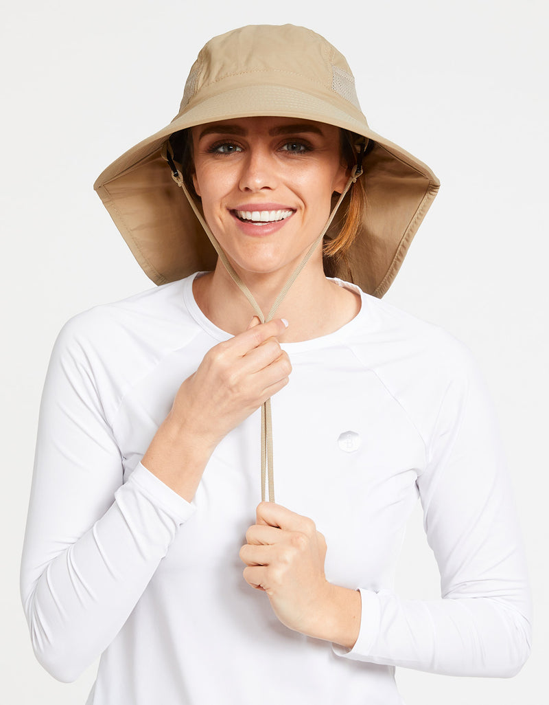 Solbari Sun Protection UPF50+ Women's Adventure Sun Hat in Beige
