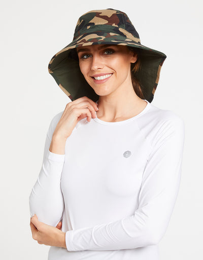 Solbari Sun Protection UPF50+ Women's Adventure Sun Hat in Camo