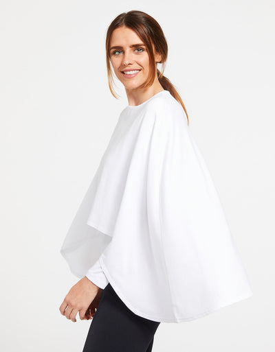 Solbari Sun Protection Women's UPF50+ Protective Shrug in White Sensitive Collection