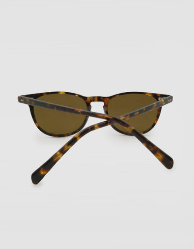 Solbari Sun Protection UV Protective Sunglasses Tortoise Shell Brown