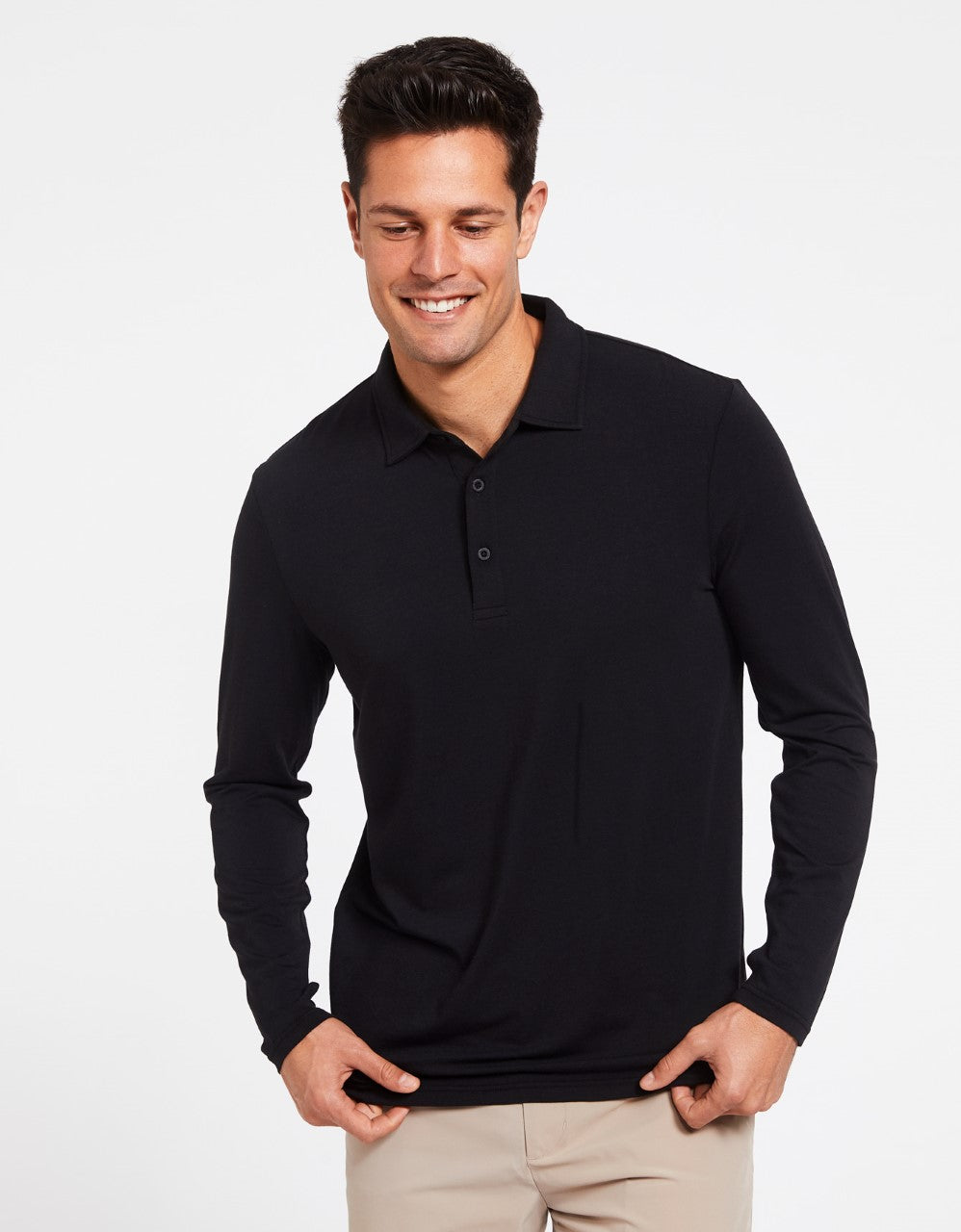 Long Sleeve Polo Shirt UPF 50+ Active Collection
