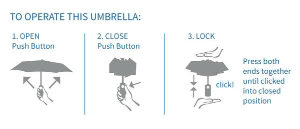 Solbari Sun Protective Umbrella operating instructions