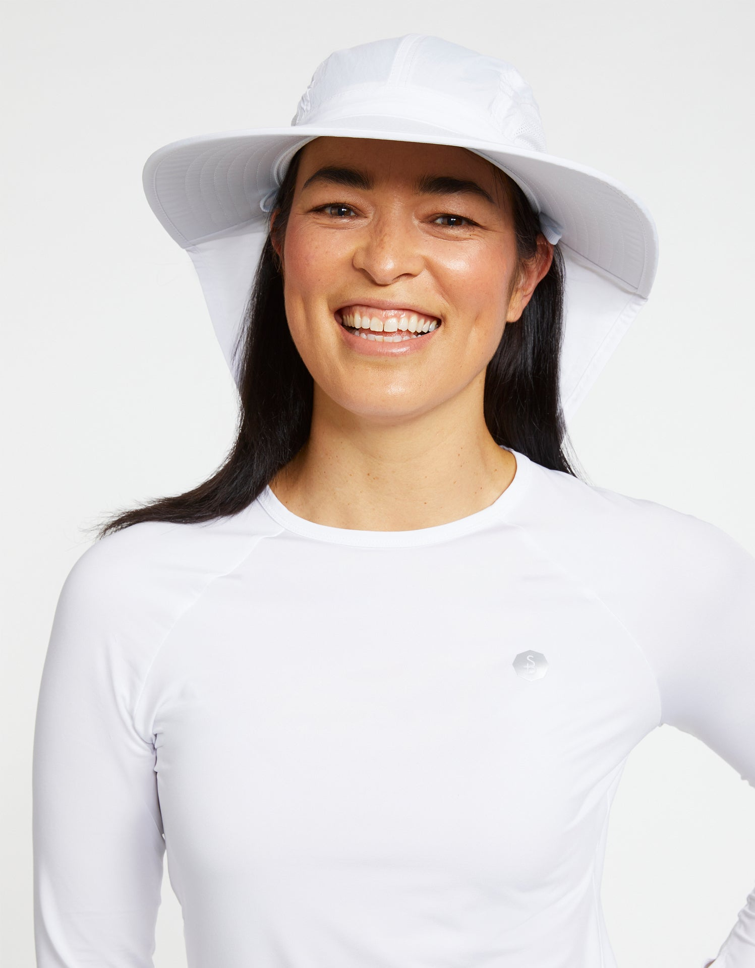 Solbari Sun Protection Women's UPF50+ Outback Sun Hat in White