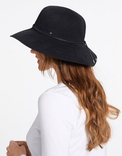 Solbari Sun Protection UPF50+ Women's Weekend Sun Hat in Black