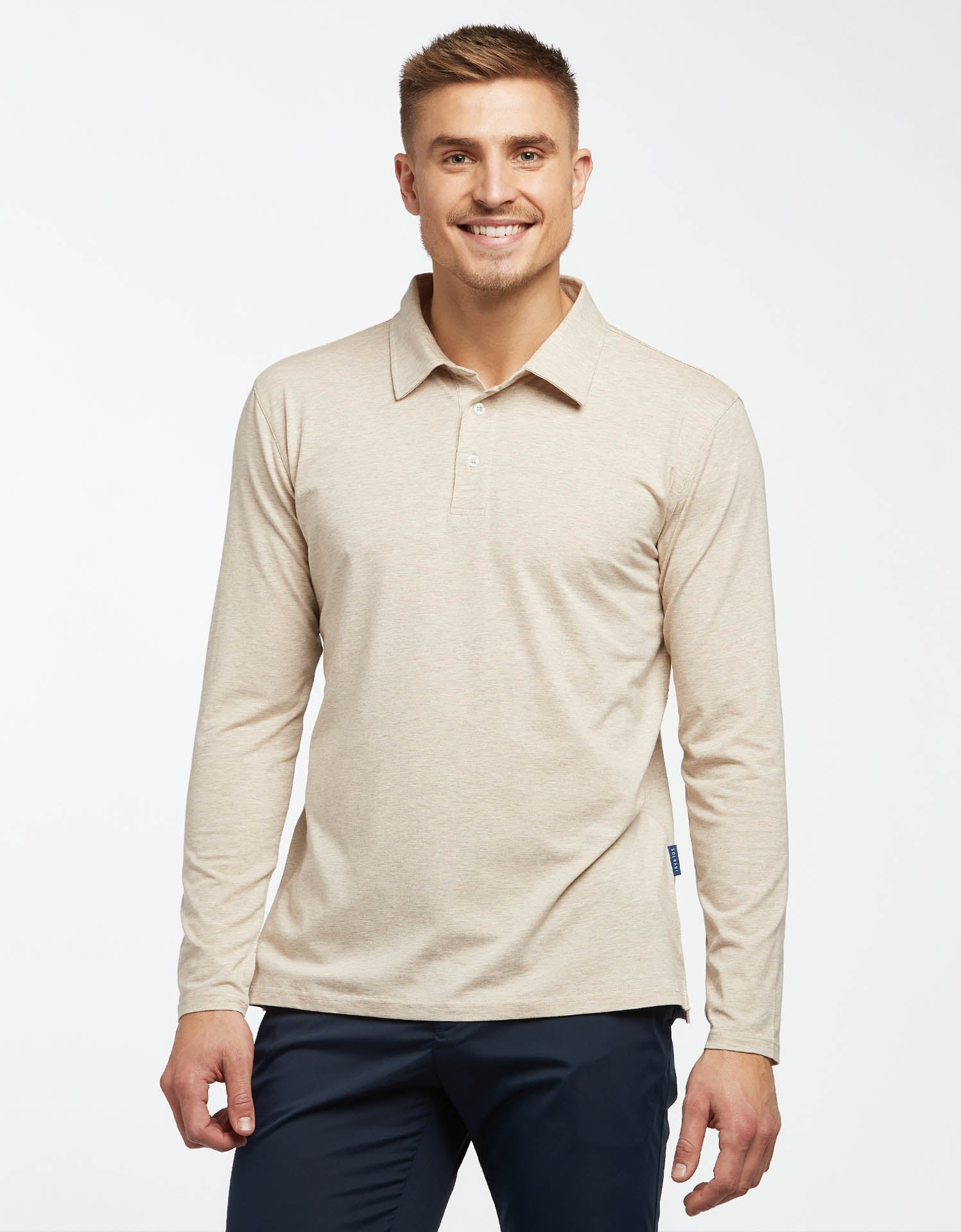 Long Sleeve Polo Shirt UPF50+ Sensitive Collection