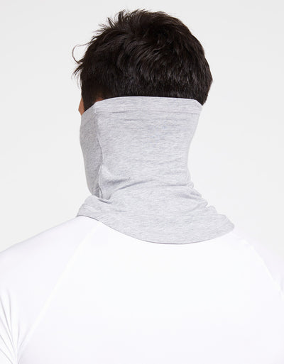 Solbari Sun Protection Curved Face & Neck Gaiter in Light Grey Marle Sensitive Collection