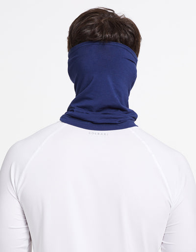 Solbari Sun Protection UPF50+ Face & Neck Gaiter Sensitive Collection in Navy