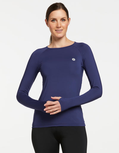 Solbari UPF 50+ Sun Protection Navy Base Layer for Women