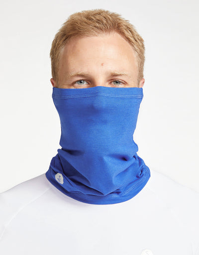 Solbari Sun Protection UPF50+ Face & Neck Gaiter Sensitive Collection in Cobalt