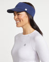 Solbari Sun Protection Women UPF50+ Comfort Fit Visor in Navy
