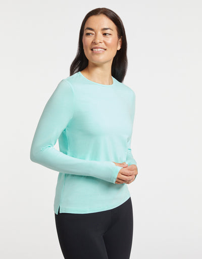 Solbari Sun Protection UPF50+ Women's Long Sleeve T-Shirt Sensitive Collection in Mint
